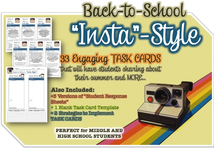 Back to School Instagram Activity