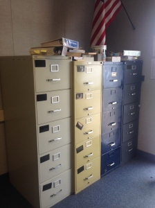 Old, Dingy Filing Cabinets